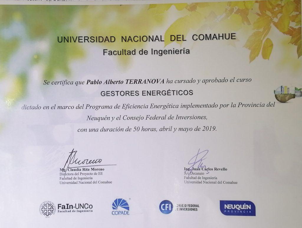 certificado gestor energetico